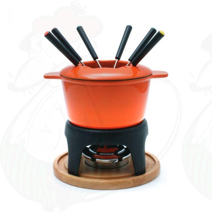 Fondue Pot Swissmar Sierra Cast Iron Orange Buy Online