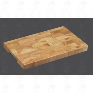 Chopping Block 40 x 25 x 3 cm, rubber wood