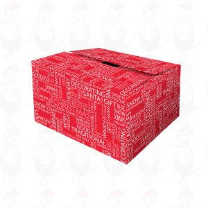 Shipping Box Christmas Red Wish