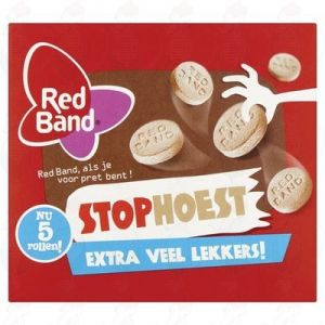 Red Band Stophoest 5 Rollen 40g