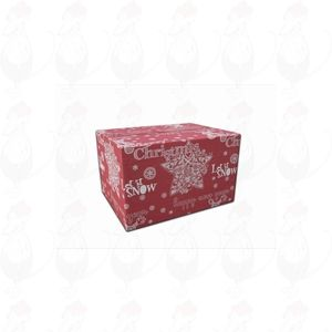 Shipping Box Christmas Red