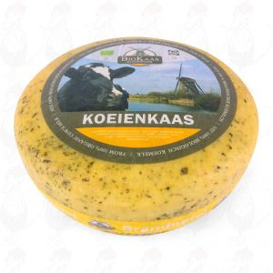 Organic Nettle Cheese - Gouda Cheese | Premium Quality | Entire cheese 5,4 kilo / 11.9 lbs