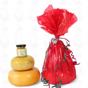 Farmhouse Cheeses and mustard gift - Red