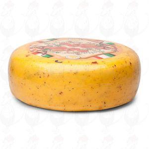 Tomato / Olive Herb Gouda Cheese | Premium Quality | Entire cheese 8,2 kilos / 18 lbs