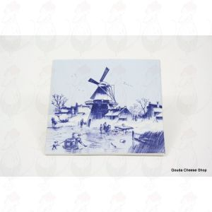 Delft Blue Tile Winter Landscape