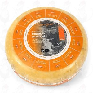 Fenugreek Gouda Organic Biodynamic cheese - Demeter | Entire cheese 5 kilo / 11 lbs