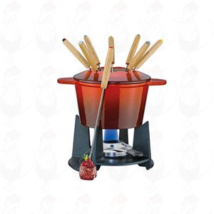 Fondue set Grenoble - Red