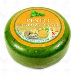 Green Pesto Cheese | Premium Quality | Entire cheese 5,4 kilo / 11.88 lbs