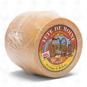 Tête de Moine - Whole Cheese | Premium Quality | 850g - 1.87 lbs
