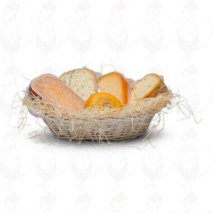 Modern cheese hamper white