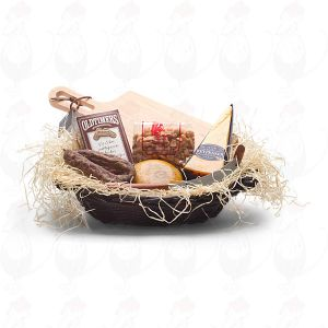 Modern varied filled hamper black