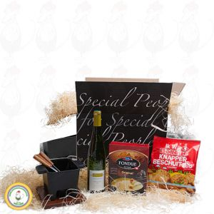 Varied tapas fondue gift package - black