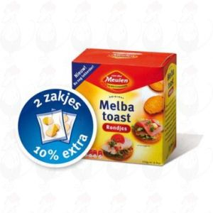 Melba Toast Naturel Rondjes - Van der Meulen - 110 gram