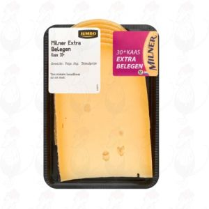 Sliced Milner Cheese Extra Matured 30+ | 200 grams in slices