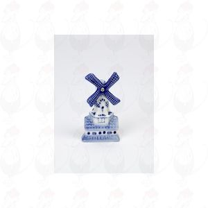 Delftware windmill on a house Magnet