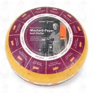 Mustard pepper Gouda Organic Biodynamic cheese - Demeter | Entire cheese 5 kilo / 11 lbs