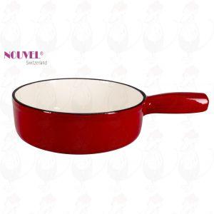 Fonduepan rood/wit - 24cm Ø