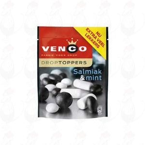 Venco Droptoppers Salmiak & mint 287 grams