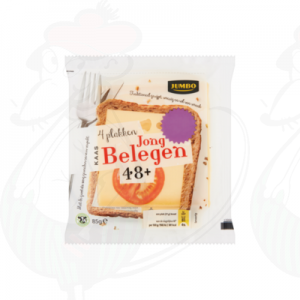 Huismerk Kaas Jong Belegen 48+ 4 Plakken 85g