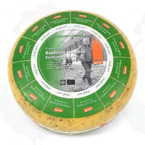Basil garlic Gouda Organic Biodynamic cheese - Demeter | Entire cheese 5 kilo / 11 lbs