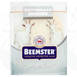 Sliced cheese Beemster Goats cheese 50+   125 grams in slices