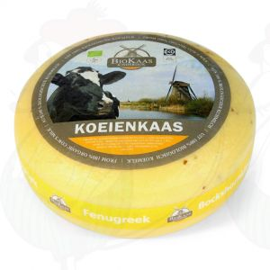Organic fenugreek cheese - Gouda Cheese | Premium Quality | Entire cheese 5,4 kilo / 11.9 lbs