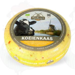 Organic Herbs de Provence cheese - Gouda Cheese | Premium Quality | Entire cheese 5,4 kilo / 11.9 lbs
