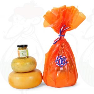 Farmhouse Cheeses and mustard gift - Orange