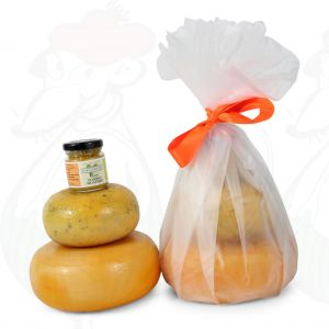 Farmhouse Cheeses and mustard gift - White