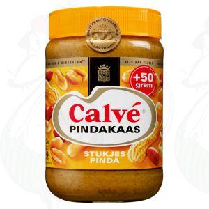 Calvé Pindakaas met stukjes noot | 650 gram