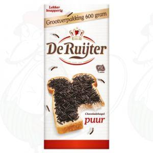 De Ruijter Chocoladehagel Puur Grootverpakking 600g