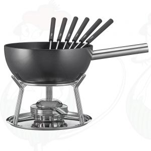 Cheese Fondue Set Spring Alu induction Black
