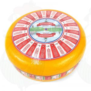 Maasdammer Cheese - Holey Cheese | Premium Quality | Entire cheese 12,5 kilo / 27.5 lbs