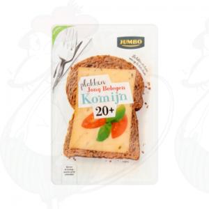 Sliced cheese Gouda Semi Matured 20+ Cumin | 190 grams in slices