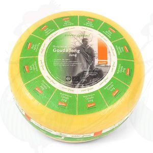 Young Gouda Organic Biodynamic cheese - Demeter | Entire cheese 12 kilo / 26.4 lbs