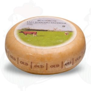 Old Organic Gouda cheese | Premium Quality | Entire cheese 4,5 kilo / 9.9 lbs