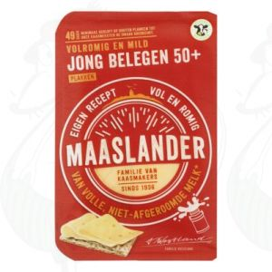 Sliced Maaslander Cheese Semi-Matured 50+ | 175 grams in slices