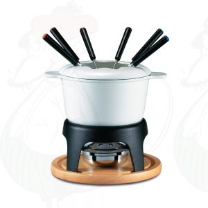 Fondue Pot Swissmar Sierra Cast Iron White