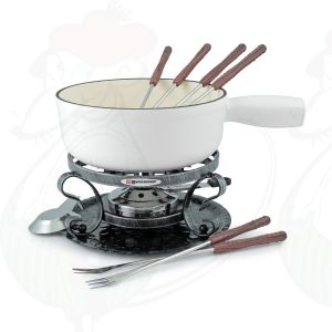 Swissmar Lugano 9 PC Matte white Cheese fondue set
