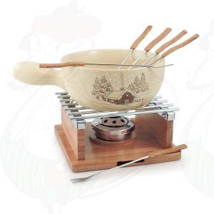 Swissmar Chalet 10 Pc Ceramic Fondue Set
