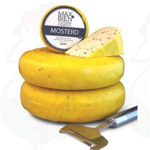Vegan Mustard Cheese    Max Bien   Wheel 1,2 Kilo - 2.64 lbs
